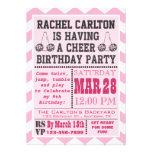 Invitación rosada de la fiesta de cumpleaños que a