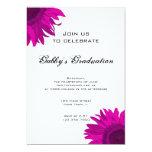Invitación rosada de la fiesta de graduación de la