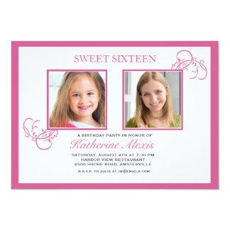 Invitación rosada de la foto de Pinkest