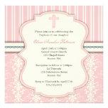 Invitación rosada de la foto del damasco del vinta