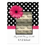 invitación rosada de la graduación de la foto de postal