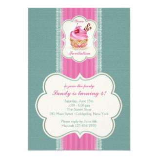 Invitación rosada de la magdalena