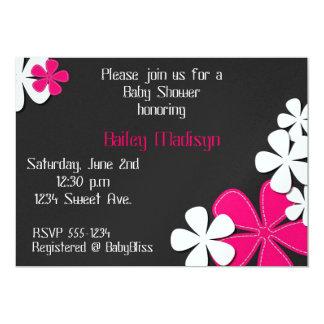 Invitación rosada de la rociada