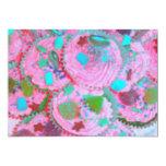 Invitación rosada de las magdalenas invitación 12,7 x 17,8 cm