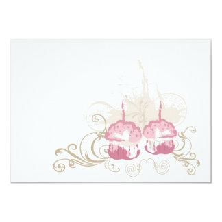 Invitación rosada de las magdalenas