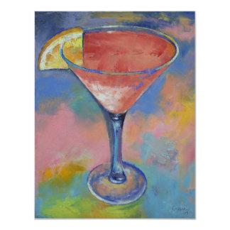 Invitación rosada de Martini