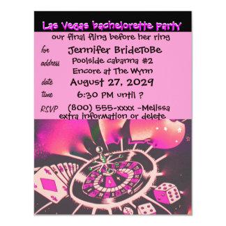Invitación rosada de Vegas Bachelorette