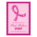 Invitación rosada del acontecimiento del cáncer de