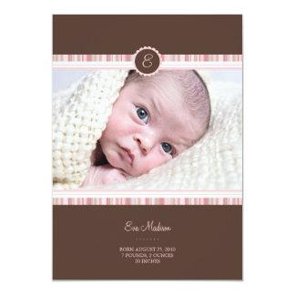 Invitación rosada del bebé de la floración invitación 12,7 x 17,8 cm