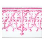 Invitación rosada del boda de la catedral invitación 10,8 x 13,9 cm