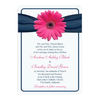 Invitación rosada del boda de la cinta de la