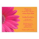 Invitación rosada del boda de la margarita y del
