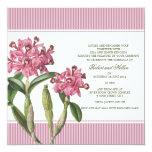 Invitación rosada del boda de la orquídea de