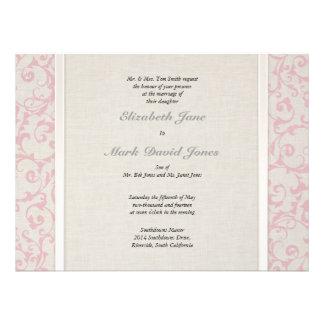 Invitación rosada del boda de SmartElegance