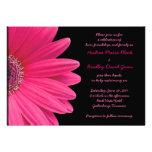Invitación rosada del boda del Gerbera - rosa y ne