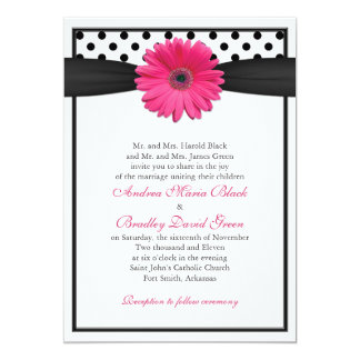 Invitación rosada del boda del lunar de la