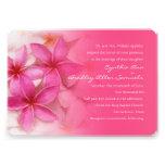 Invitación rosada del boda del Plumeria