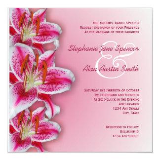 Invitación rosada del boda del Stargazer