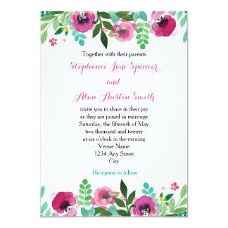 Invitación rosada del boda del trullo de las