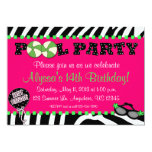 Invitación rosada del cumpleaños de la fiesta en