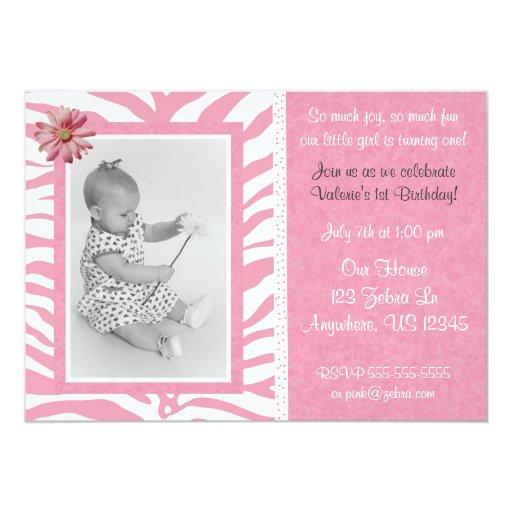 Invitación rosada del cumpleaños de los chicas del