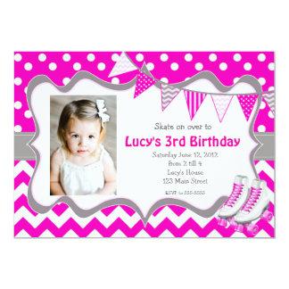 Invitación rosada del cumpleaños del fiesta del