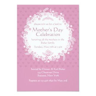 Invitación rosada del día de madre de la
