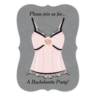 Invitación rosada del fiesta de Bachelorette de la