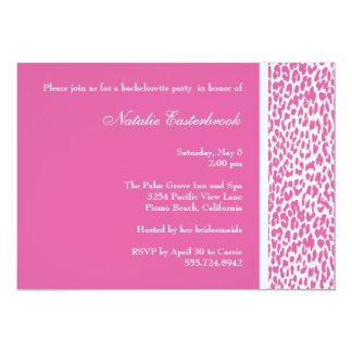 Invitación rosada del fiesta de Bachelorette del