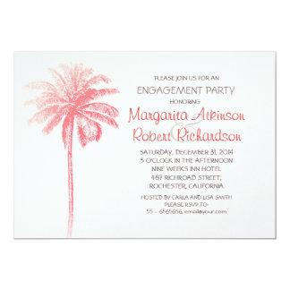 invitación rosada del fiesta de compromiso de la