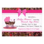 Invitación rosada del fiesta de fiesta de bienveni