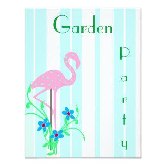 Invitación rosada del fiesta del verano del invitación 10,8 x 13,9 cm