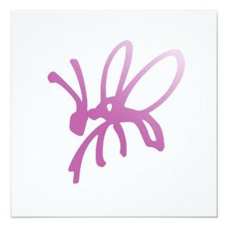 Invitación rosada del insecto