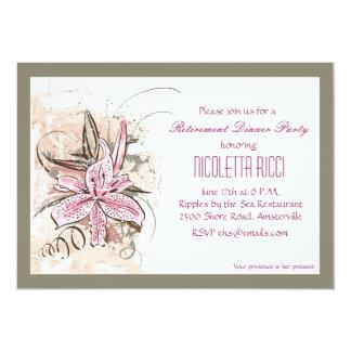 Invitación rosada del lirio