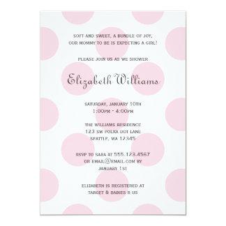 Invitación rosada dulce de la ducha de la niña de