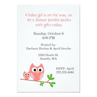 Invitación rosada dulce de la fiesta de bienvenida
