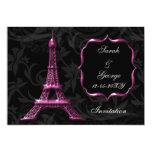 invitación rosada elegante del boda de París de la Invitación 12,7 X 17,8 Cm