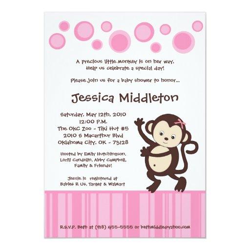 invitación rosada femenina de la fiesta de
