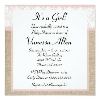 Invitación rosada formal de la fiesta de
