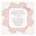 Invitación rosada lamentable del boda del estilo d