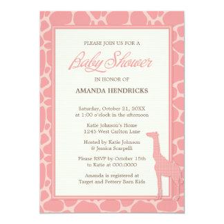 Invitación rosada linda de la fiesta de bienvenida