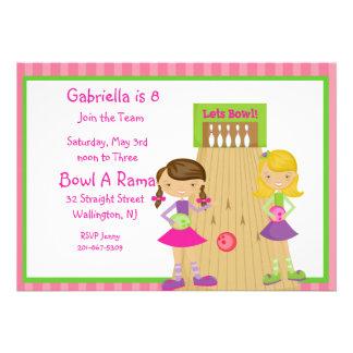 Invitación rosada linda rayada del fiesta de los