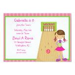 Invitación rosada, linda, rayada del fiesta de los invitación 12,7 x 17,8 cm