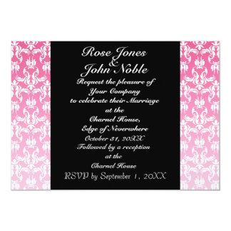 Invitación (rosada) negra azul del boda