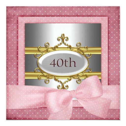 Invitación rosada oscura del marco de la fiesta de
