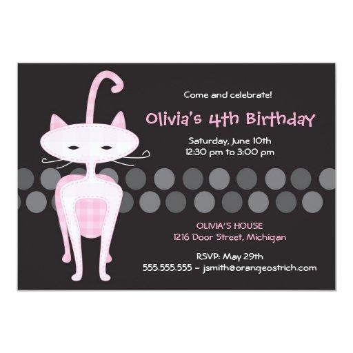 Invitación rosada sofisticada del cumpleaños del