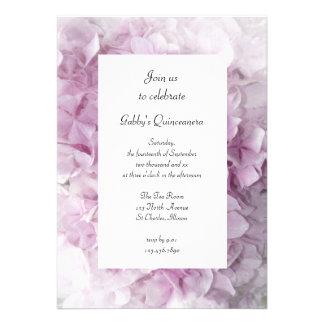 Invitación rosada suave del fiesta de Quinceanera