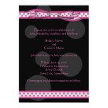 Invitación rosada y negra del personalizable de