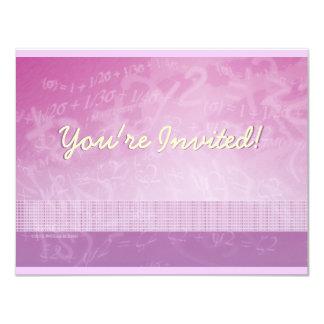 Invitación rosada y púrpura de la ecuación de la