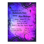 Invitación rosada y púrpura del fiesta de